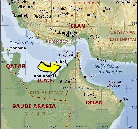 Where Is Dubai Located On The World Map? Is Dubai A Country?