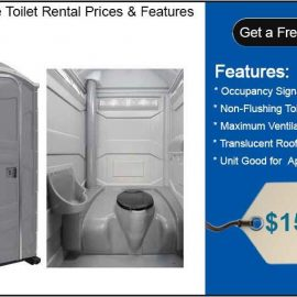how much does it cost to rent a porta potty